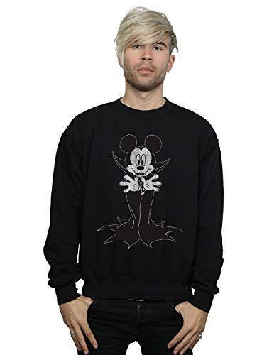 Disney Herren Mickey Mouse Dracula Sweatshirt Schwarz XXXX-Large