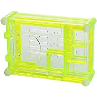 LeaningTech 20-211-286 Compatible Fan with Transparent Acrylic Shell Case for Raspberry Pi 2 Model B and RPI B+, 9 Layers, Green - ukpricecomparsion.eu