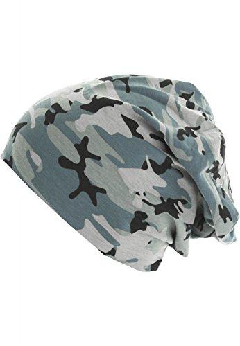 MSTRDS Jersey Beanie Reversible, Bonnets En Mailles Mixte grey camo/charcoal