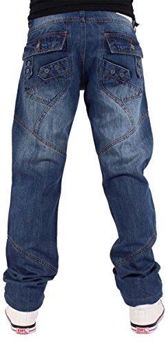 Unknown - Jeans - Droit - Homme bleu bleu bleu clair
