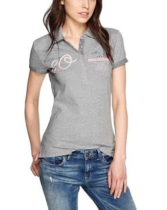 s.Oliver Damen Poloshirt 14.402.35.2635, Einfarbig, Gr. 44, Grau (pearl grey placed print)