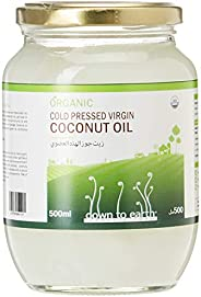 Down To Earth Organic Virgin Coconut Oil For Skin, Hair, and Body, 100% Organic Cold Pressed Oil, Best For Ket