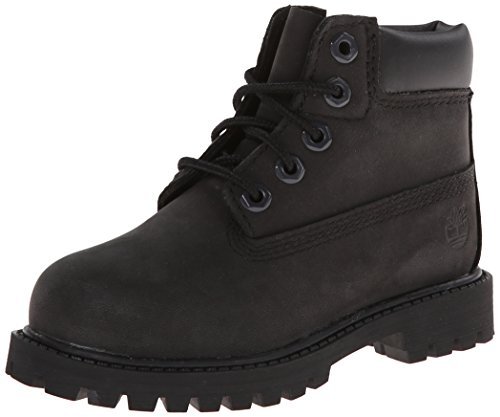 Timberland 6 in Classic Boot - 6 in Premium WP Boot, Unisex-Kinder Kurzschaft Stiefel, Schwarz (Black Nubuck), 38 EU (5 Kinder UK) (6 Boot)