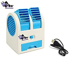 Generic Mini Dual Bladeless Fragrance Fan(Multicolor)