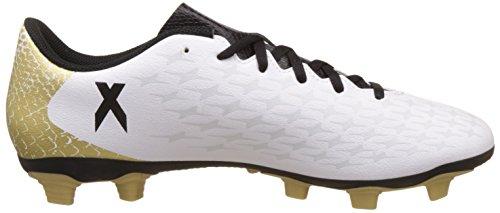 adidas X 16.4 Fxg, Chaussures de Foot Homme Blanc (Ftwr White/Core Black/Gold Met.)