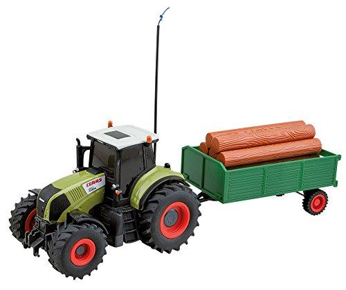 Happy People 34417 - RC Claas Traktor mit Anhänger 1: 28, Fahrzeug*