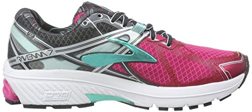 Brooks Ravenna 7, Chaussures de Running Compétition Femme Multicolore (Fuchsia Purple/Anthracite/Cockatoo)