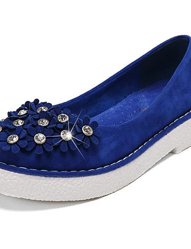 ZQ Scarpe Donna - Mocassini - Formale / Casual - Comoda / Punta arrotondata / Chiusa - Plateau - Scamosciato -Nero / Blu / Giallo / Rosa / , purple-us8.5 / eu39 / uk6.5 / cn40 , purple-us8.5 / eu39 /  blue-us5.5 / eu36 / uk3.5 / cn35
