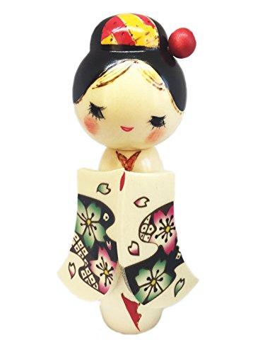 Sakurakomachi–Puppe Traditionelle japanische Kokeshi (Holz Mizuki)