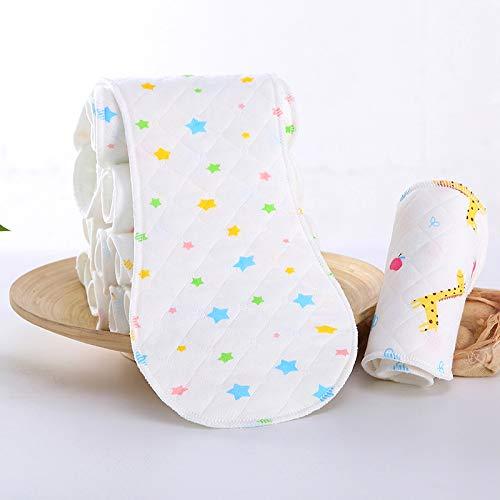 Teabelle Wiederverwendbar Baby Tuch Windel Windeleinlage Einlage 3Schichten Baumwolle Sterne