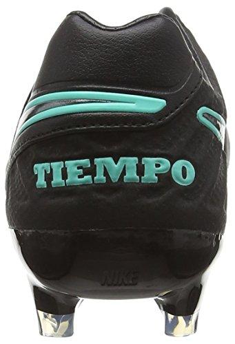 Nike Herren Tiempo Legacy Ii Fg Fußballschuhe Blau (Black/Black-Hyper Turquoise)