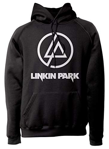 LaMAGLIERIA Unisex-Hoodie Linkin Park - Classic Logo White Print - Kapuzenpullover Rock Band, M, schwarz -