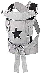 Bondolino Plus Babytrage inklusive Bindeanleitung, grau mit Stern
