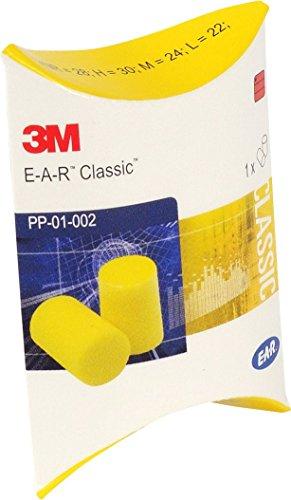 3M EAR Classic- Tapones pequeños para oídos, color amarillo, bloqueo de sonido hasta 28 dB, empaquetados por pares, 50 pares, protector auditivo Wadle-shop