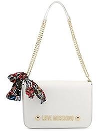 c38d53697e Love Moschino Moschino Donna sciarpa cravatta con tracolla catena Bianco