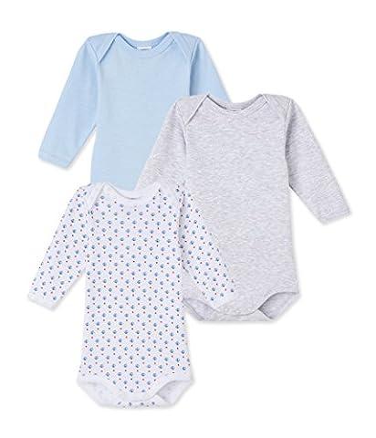 Petit Bateau Baby - Jungen Body ML_23529 Bodys,,3er Pack|#3per pack Mehrfarbig (special 00),104 (4ans/104cm)