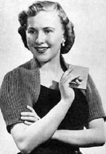 BOLERO SHRUG SWEATER - A Vintage 1953 Knitting Pattern - Kindle eBook download - Also available for download to Android, Blackberry, ... Text to speech compatible. (English Edition) (Android Kostüme)