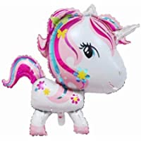 Party R Us Giant Big Head Unicorn, Large Unicorn Foil Balloon (92cm or 36inch)