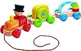 HAPE Beleduc Hape E0431 - Wunderbarer Zug, Nachziehspielzeug