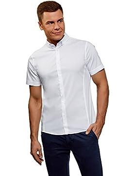 oodji Ultra Uomo Camicia Basic con Maniche Corte