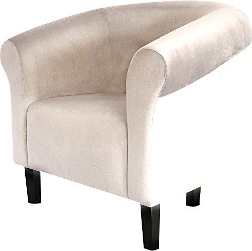 Fortisline Fauteuil Crapaud Monaco Velvet en Velours Beige sièges pour Salon Bistro caféW364_25