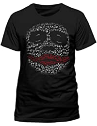 BATMAN Men's Dark Knight-Joker Ha Outline T-Shirt