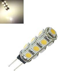 Global G4 13 SMD 5050 LED bianco caldo armadio 3500k camper marino lampadina 12V DC