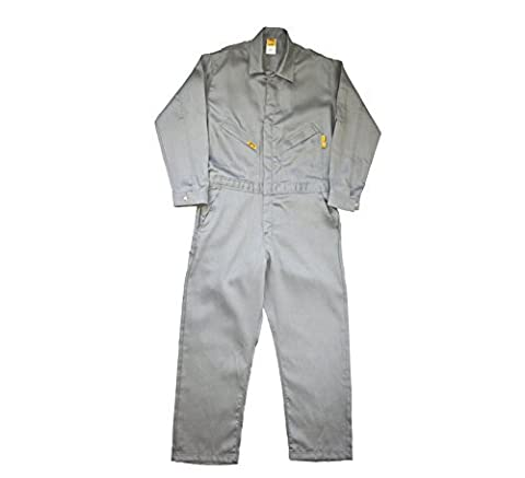 Lapco FR GOCLW6GY-48-RG Flame Resistant Light Weight Deluxe Coveralls, Regular,