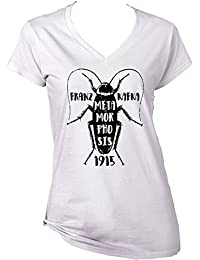 Teesquare1st Women's FRANZ KAFKA METAMORPHOSIS COLLAGE White T-Shirt