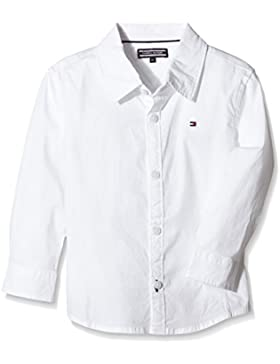 Tommy Hilfiger Jungen Hemd Solid Stretch Poplin Shirt L/S.