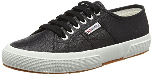 Superga Damen 2750 Lamew Sneakers, Schwarz (black), Gr. 39.5