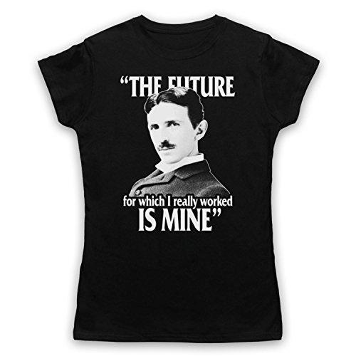 Nikola Tesla The Future Is Mine Damen T-Shirt Schwarz