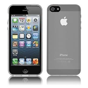 PrimaCase - Schutzhülle für Apple iPhone SE / 5 / 5s - Transparent TPU Silikon in Weiß