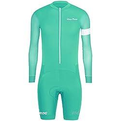 Uglyfrog Ropa Manga Larga Hombre Maillots Ciclismo Piernas Cortas Skinsuit with Gel Pad Triatlón Clothes HCLT06
