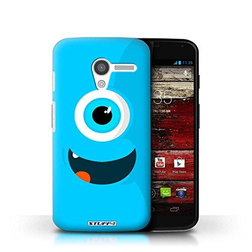 Kobalt® Imprimé Etui / Coque pour Motorola MOTO X / Rouge conception / Série Monstres Bleu