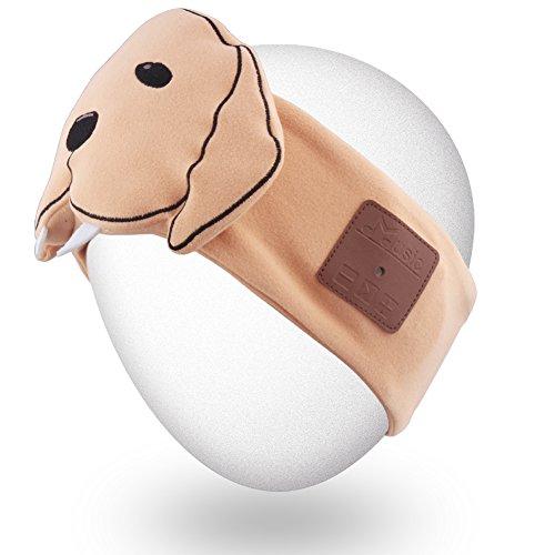 Rotibox Leichter Schweiß-Bluetooth-Stirnband-Kopfhörer, Freisprecheinrichtung, mit Stereo-Lautsprecher und Mikrofon-Freisprechanlage für Gym, Übung, Fitness, Sport, Laufen