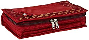 Amazon Brand - Solimo Quilted Jewellery Kit, Maroon