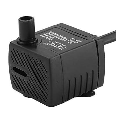 Pompe à Eau Submersible Pompe électrique Automatique pour Aquarium Système de Circulation d'eau en Plastique 220-240V 4W pour Aquariums et systèmes hydroponiques avec Adaptateur de fiche