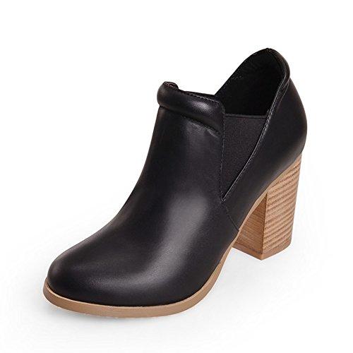 bottes de mode automne et d'hiver/Tête ronde avec lourdes bottes avec/Bottes nue/Confortable high heel shoes B