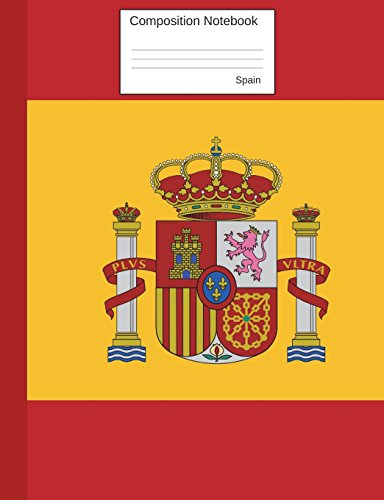 Spain Composition Notebook: Graph Paper Book to write in for school, take notes, for kids, students, spanish teachers, homeschool, Spanish Flag Cover (Red Flag Football)