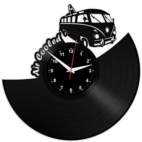 Evevo vw volksvagen orologio da parete in vinile, con disco in disco, retrò, grande orologio, stile, decorazione per la casa, ottimo regalo, orologio da parete vw volksvagen