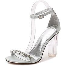 Scarpe da Sposa da Donna Y2615-13 Cristallo Ruvido Piattaforma con Diamante  Artificiale Perla Tacco f8ff01707ca