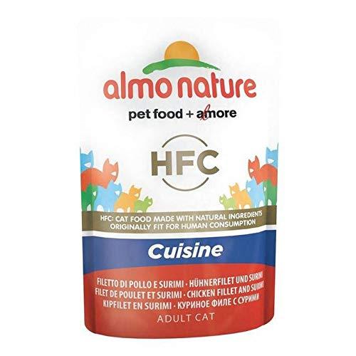 Poche Chat Nature Almo Filet De Poulet Cuisine Et Surimi 24 Hfc X 55G
