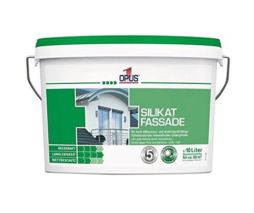 Preisvergleich Produktbild Opus1 Silikat Fassade 10 Liter für mineralische Untergründe,  äußerst Wetterbeständig