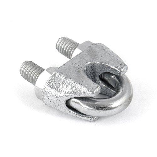 50 pcs acier galvanisélire serre-câbles étrier DIN 741 6mm zingue