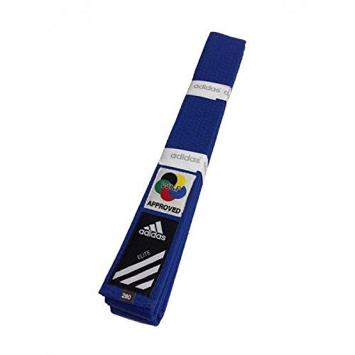 Adidas Elite Karate Gürtel WKF Blau Kampfsport