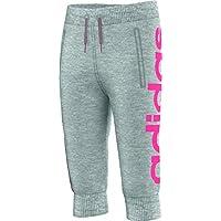 adidas YG W Fun 3/4 Pa - Pantalón capri para niña, color gris/rosa, talla 170