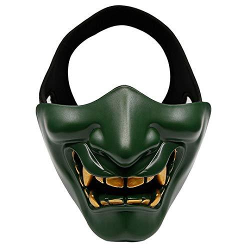 BUG-L Halloween Dance Party Lacht Wie Taktische Maske, Cos Devil Horror Gesicht Erwachsene MäNner & Frauen Halbe Gesichtsmaske