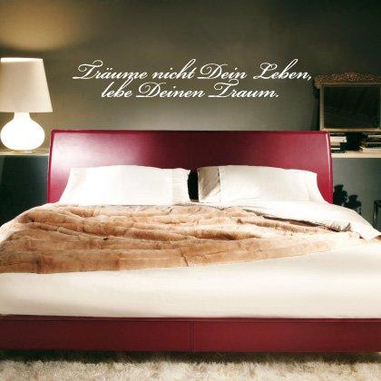 Indigos WG30188-80 Wandtattoo w188 Träume nicht Spruch Wandaufkleber 120 x 19cm, braun