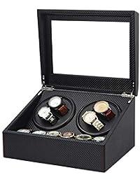 Double Boîte Déco Enrouleur de montre mécanique automatique, piano Peinture, Ultra Silencieux Moteur rotatif